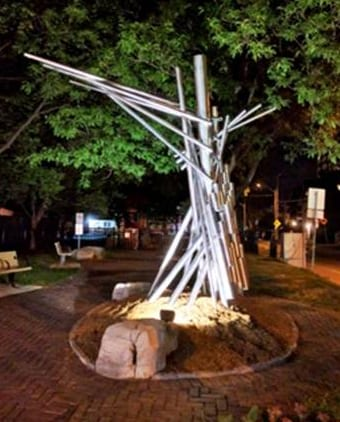 St. Luke's Park Public Art – The Listening Tree by Mixed Metaphors